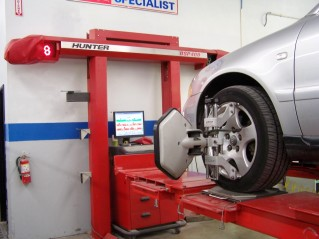 Wheel Alignment performed at Bodytech Auto Body Collision Repair Services Ventura